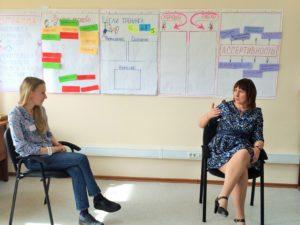 Участники на практике отрабатывали задания: ассертивно оговориться с руководителем о повышении заработной платы